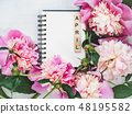 Beautiful greeting card with the word APRIL 48195582