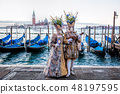 Traditional festival with mask in Venice, Italy 48197595