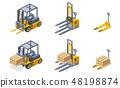 Warehouse hydraulic machines isometric set 48198874