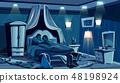 Lovers sleep in bed bedroom night lamps 48198924