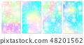 Unicorn rainbow background. Holographic sky 48201562