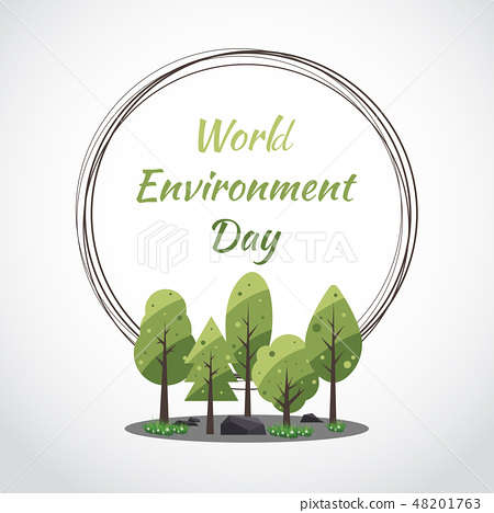 World Environment Day concept with Save the world 48201763