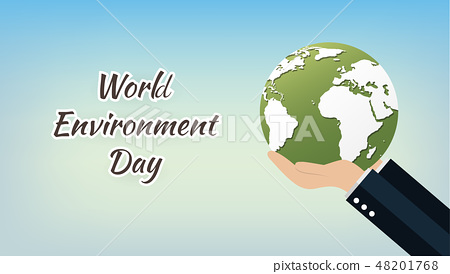World Environment Day concept with Save the world 48201768