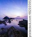 S川流傍晚的風景(新潟) 48203565