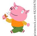 軟奶油豬 48209476