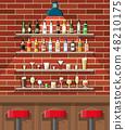 Interior of pub, cafe or bar. 48210175
