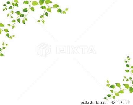 Watercolor fresh green frame 48212116