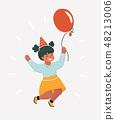 Girl Child jumping. 48213006