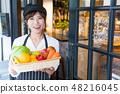 คาเฟ่คาเฟ่บาร์ร้านอาหารหญิงสาว 48216045