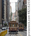 샌프란시스코의 케이블카 48216203