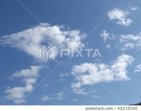 Blue Sky and Baiyun on Inage Coast 48218560