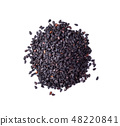 black sesame on white background 48220841