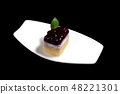 Sweet Cake on white dish 48221301