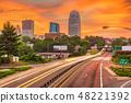 Winston-Salem, North Carolina, USA skyline at dusk 48221392