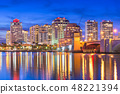 West Palm Beach, Florida, USA downtown skyline 48221394