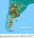 Landmarks or sightseeing places on Argentina map 48221937