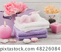 Lavender foaming bath bombs and soaps 48226084
