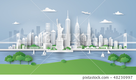 City panorama skyline with urban 48230997