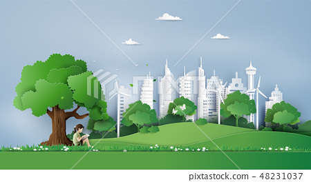 Eco and environment concept  with children 48231037