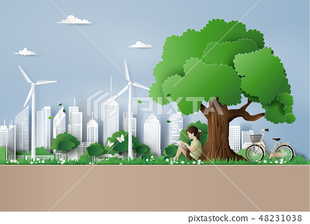 Eco and environment concept  with children 48231038