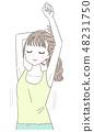 年輕的女士伸展 48231750