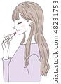 Make cosmetics young lady 48231753