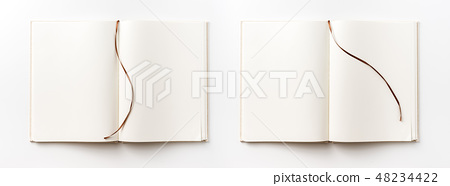 Top view of fabric notebook for mockup 48234422