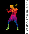 Muay Thai, Thai Boxing standing graphic vector 48237183