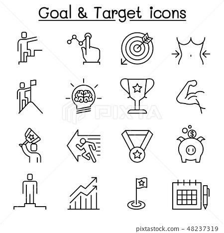 Goal, Target, Self improvement, aim, purpose icon  48237319