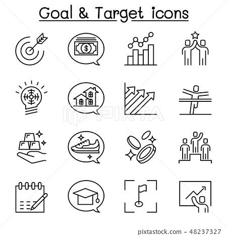 Target, purpose, aim, self improvement icon 48237327