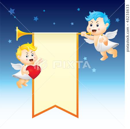 아기천사와 나팔 48238633