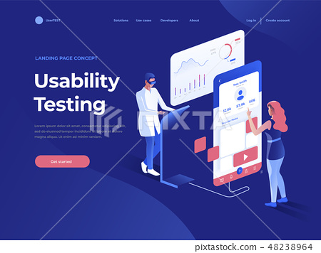 People testing the interface of a mobile application. 48238964