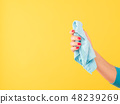 multi purpose cloth cleaning hand copy space 48239269