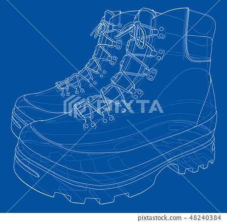 Mens boot concept. Vector rendering of 3d 48240384