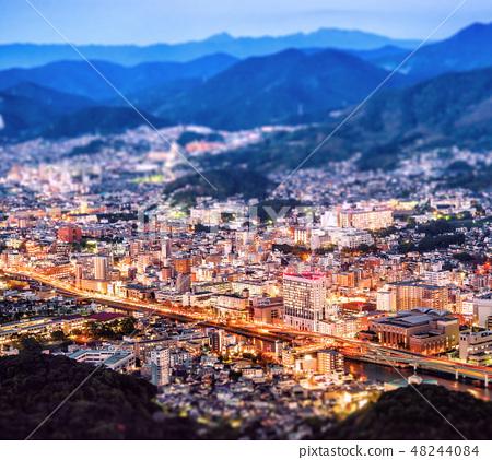 長崎城世界三大夜景稻佐山傾斜移位鏡頭長崎傾斜移位 48244084