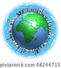 지구 랜드 마크 유럽 푸른 하늘 2 48244715