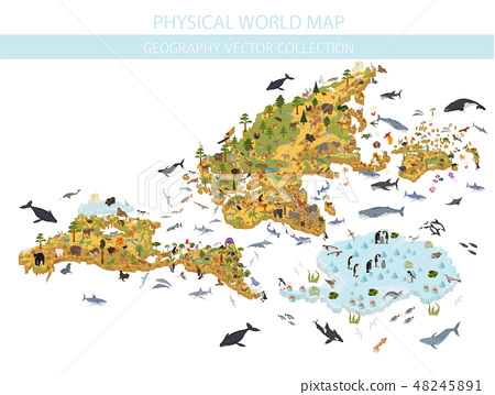 World map elements. Build your own geography  48245891