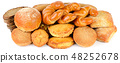 Bread and bakery products isolated on white  48252678