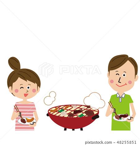 流行夫婦有趣的燒烤 48255851