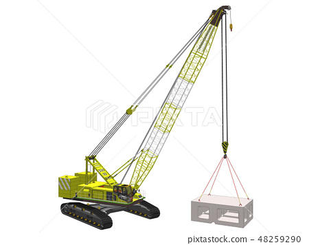 Crawler crane 6 - Stock Illustration [48259290] - PIXTA