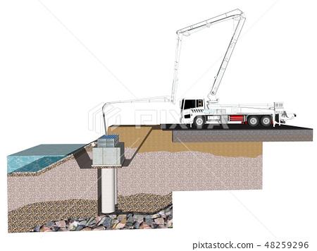 Concrete pump car 48259296
