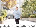 跑步的小姐城市連續圖像 48259741