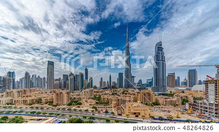 [迪拜城市景觀]哈利法塔和城市景觀白天 48264826