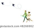 一個人穿著雨衣。雨季剪貼畫。放傘的男人和女人。雨的形象。天氣利 48266902