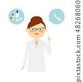 백의 여성 의사 예방 48268060