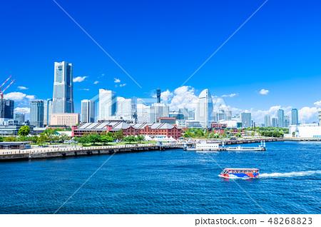 神奈川橫濱港未來的風景 48268823
