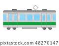 전철 녹색 48270147