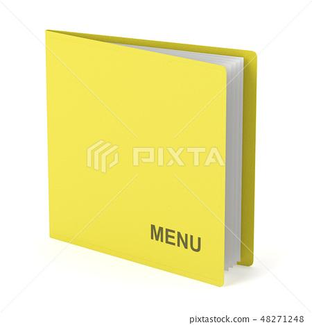 Yellow menu book 48271248