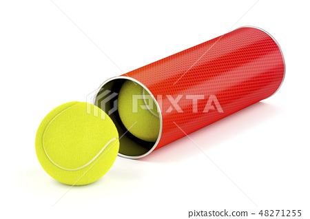 Can with tennis balls 48271255
