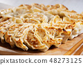 Japanese dumplings with pork meat and vegetable  48273125